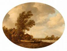 Maerten Fransz. van der Hulst<BR>Flusslandschaft mit Fischern
