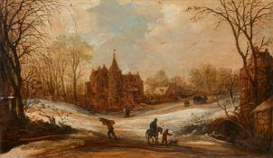 Frans de Momper<BR>Winterliche Landschaft