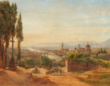 Salomon Corrodi<BR>Blick auf Florenz