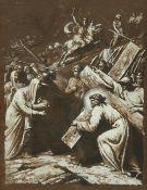 Italienischer Meister um 1700<BR>Jesus begegnet seiner Mutter auf dem Kreuzweg (4. Station)