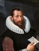 Gottfried von Wedig<BR>Bildnis eines Herrn mit einem Schreiben in der Hand