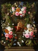 Jan Philip van Thielen<BR>Blumengirlande mit Venus und Amor