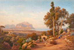 Salomon Corrodi<BR>Blick auf den Monte Pellegrino bei Palermo