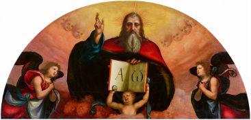 Mariotto Albertinelli<BR>Gottvater segnend, umgeben von Engeln