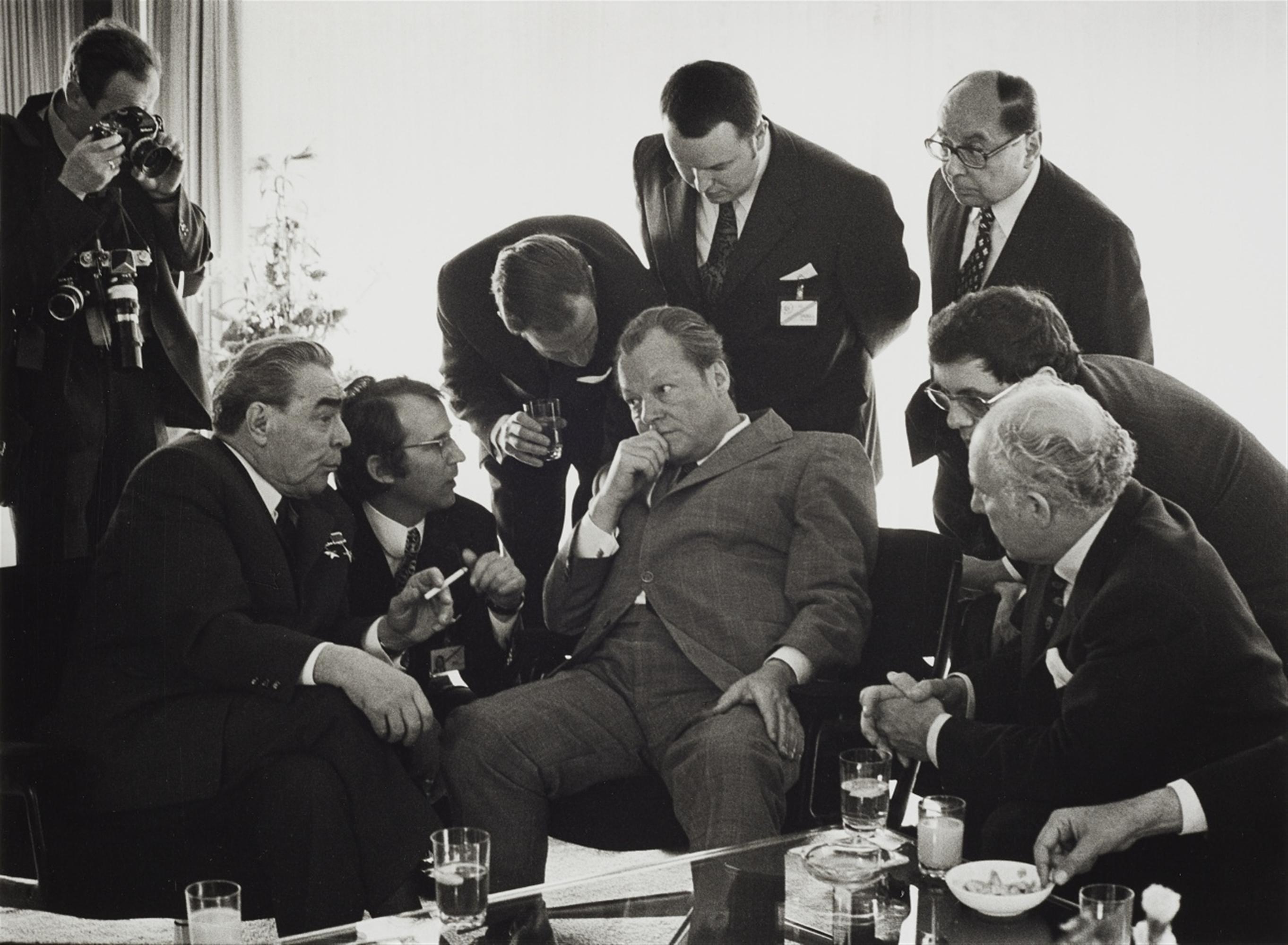 Barbara Klemm<BR>Leonid Breschnew, Willy Brandt, Bonn