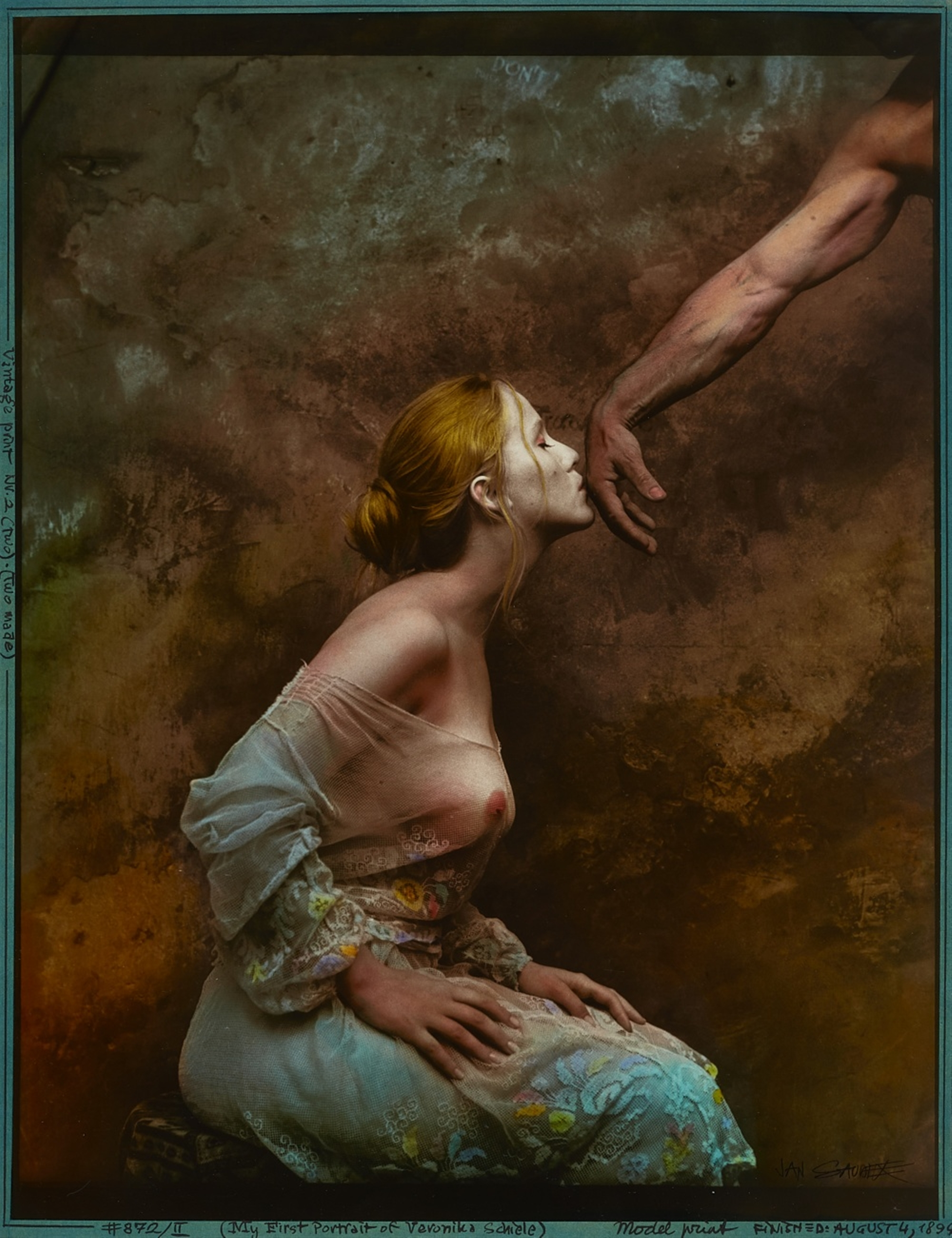 Jan Saudek<BR>My First Portrait of Veronika Schiele