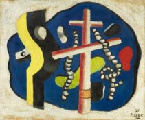 Fernand Léger<BR>Deux cordages sur fond bleu