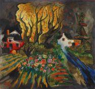 Franz Radziwill<BR>Landschaft mit gelben Bäumen