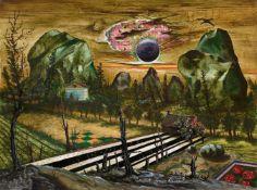 Franz Radziwill<BR>Landschaft mit zwei Felsen