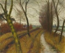 Otto Modersohn<BR>Weg nach Surheide (silbern)