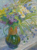 Maria MarcKrug mit Sommerblumen