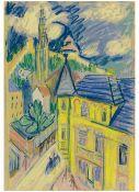 Rolf Nesch<BR>Untitled (Ansicht von Esslingen)