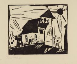 Lyonel Feininger<BR>Vollersroda (Kirche in Vollersroda)