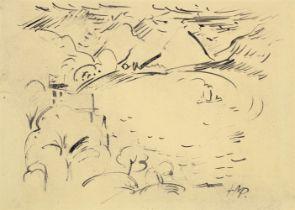 Hermann Max Pechstein<BR>Landschaft am Luganer See