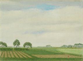 Herbert Böttger<BR>Landschaft am Niederrhein