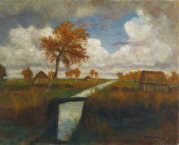 Otto Modersohn<BR>Herbst im Moor - Moorbrücke