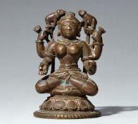 Gaja Lakshmi. Kupferlegierung. Ost-Indien, Orissa. 18./19. Jh.