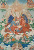 Großes Thangka des Padmasambhava. Tibet. 19. Jh.