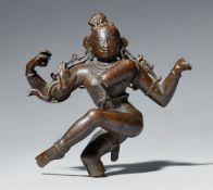 Fragment eines Shiva als Natharaja. Bronze. Süd-Indien. Spät-Chola, 10./11. Jh.
