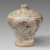 Meiping-Vase. Cizhou. Yuan-/frühe Ming-Zeit, 14./15. Jh.