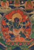 Thangka des Vajrakila. Bhutan. 19. Jh.
