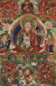 Thangka des Padmasambhava. Tibet oder Bhutan. 19. Jh.