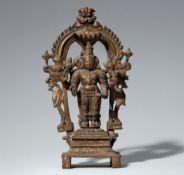 Altar des Vishnu. Bronze. Süd-Indien. 19. Jh.