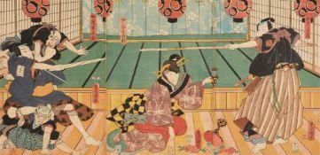 Utagawa Hiroshige, Utagawa Kunisada<BR>