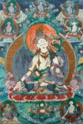 Thangka der Weißen Tara. Tibet. Um 1900