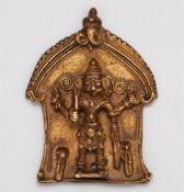 Zwei Relieftafeln des Virabhadra. Kupferlegierung. Zentral-Indien, Maharashtra. 19. Jh.