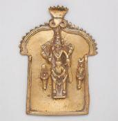 Relieftafel. Gelbguss. Süd-Indien, Karnataka. 19. Jh.