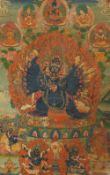Thangka des Vajrabhairava. Tibet. 19. Jh.
