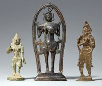 Drei Figuren. Süd-Indien, Tamil Nadu/Kerala. 19./20. Jh.