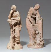 Zwei allegorische Figuren, 'Le Sommeil' und 'L'Espérance'