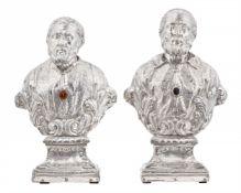 Wohl Neapel um 1710, Zwei Reliquienbüsten