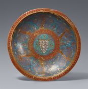 Limoges 1. Hälfte 13. Jahrhundert, Schale mit königlich-französischem Wappen