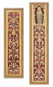 Two Spanish embroidered borders