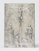 Plakette mit Kreuzigung