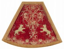 A Spanish embroidered cope ornament
