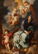 Anthony Van Dyck, follower of, Mater Dolorosa with the Arma Christi