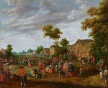 Joost Cornelisz. Droochsloot, Village Landscape with Peasant Festivities