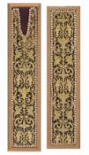Two embroidered borders from a liturgical vestment