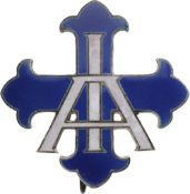 BADGE OF THE COUNCIL OF PATRONAGE FOR SOCIAL WORKS WITH INITIALS A.I. (Winter Aid)