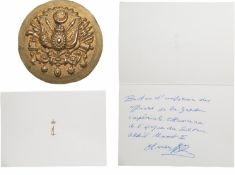An Officer's Uniform Button from the Turkish Imperial Guard, period Sultan Abdul Hamid II