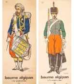 2 Uniformes Posters, Hussard 1840 and Zouave 1852