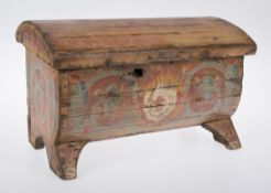 Carved and polychromed chest. Italy. 15th century.