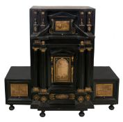 Ebony, gilded bronze and ivory cabinet. Flanders or Italy. 17th century.