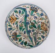 Pottery plate. Iznik. Turkey. Late 16th century.