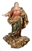 """""""Our Lady Immaculate"""". Monumental carved, gilded and polychromed wooden sculpture. Castilian Scho"""