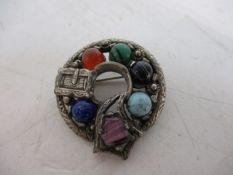 Miracle vintage signed beautiful celtic brooch.